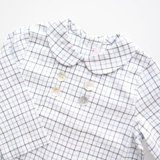 <img class='new_mark_img1' src='https://img.shop-pro.jp/img/new/icons14.gif' style='border:none;display:inline;margin:0px;padding:0px;width:auto;' />Amaia Kids -  Thomas shirt (Blue check)