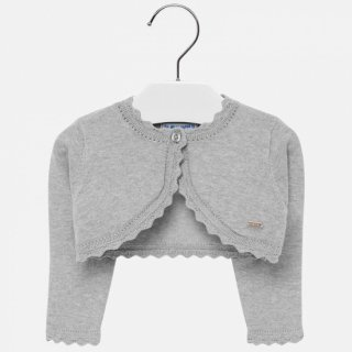 <img class='new_mark_img1' src='https://img.shop-pro.jp/img/new/icons14.gif' style='border:none;display:inline;margin:0px;padding:0px;width:auto;' />Mayoral -  Basic knitted cardigan (Silver grey)