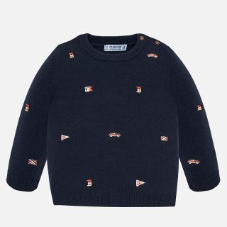 <img class='new_mark_img1' src='https://img.shop-pro.jp/img/new/icons14.gif' style='border:none;display:inline;margin:0px;padding:0px;width:auto;' />Mayoral - Embroidered super car sweater