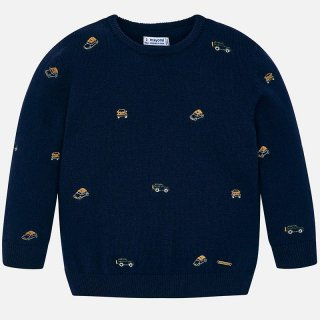 <img class='new_mark_img1' src='https://img.shop-pro.jp/img/new/icons14.gif' style='border:none;display:inline;margin:0px;padding:0px;width:auto;' />Mayoral - Embroidered SUV car sweater
