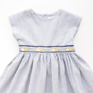 <img class='new_mark_img1' src='https://img.shop-pro.jp/img/new/icons14.gif' style='border:none;display:inline;margin:0px;padding:0px;width:auto;' />Malvi&Co. - Limone smocked dress - french sleeve (Navy)