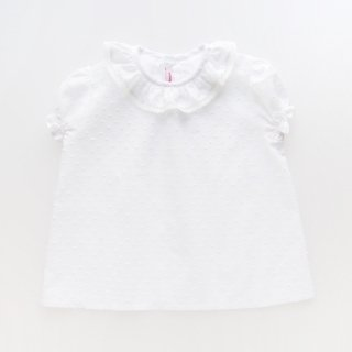 <img class='new_mark_img1' src='https://img.shop-pro.jp/img/new/icons14.gif' style='border:none;display:inline;margin:0px;padding:0px;width:auto;' />Amaia Kids - Kensington blouse (White plumetti)