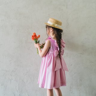 <img class='new_mark_img1' src='https://img.shop-pro.jp/img/new/icons14.gif' style='border:none;display:inline;margin:0px;padding:0px;width:auto;' />Amaia Kids - Poppy dress (Pink stripe)