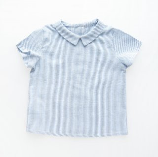 <img class='new_mark_img1' src='https://img.shop-pro.jp/img/new/icons14.gif' style='border:none;display:inline;margin:0px;padding:0px;width:auto;' />Amaia Kids -  Mallard shirt (Blue stripe)