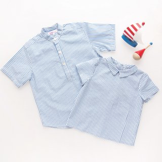 <img class='new_mark_img1' src='https://img.shop-pro.jp/img/new/icons14.gif' style='border:none;display:inline;margin:0px;padding:0px;width:auto;' />Amaia Kids - Pereprine shirt (Blue wide stripe)