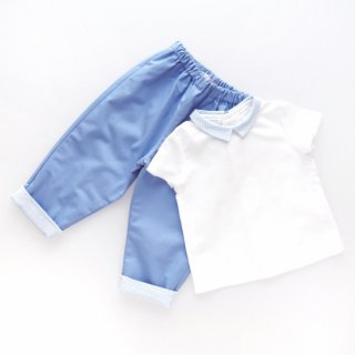 <img class='new_mark_img1' src='https://img.shop-pro.jp/img/new/icons14.gif' style='border:none;display:inline;margin:0px;padding:0px;width:auto;' />Amaia Kids - Tito trousers (Blue & Vichy)