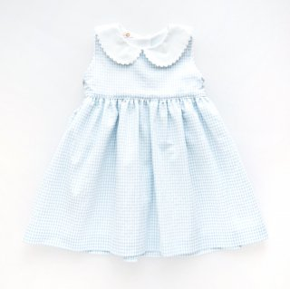 <img class='new_mark_img1' src='https://img.shop-pro.jp/img/new/icons14.gif' style='border:none;display:inline;margin:0px;padding:0px;width:auto;' />San Sakae Petit - Peter Pan collar vichy dress