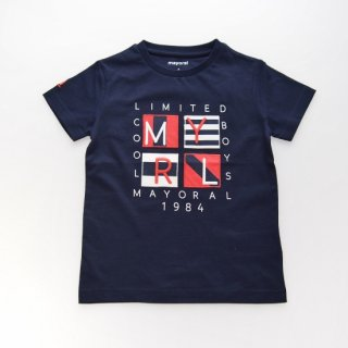 <img class='new_mark_img1' src='https://img.shop-pro.jp/img/new/icons14.gif' style='border:none;display:inline;margin:0px;padding:0px;width:auto;' />Mayoral - Patch T-shirt (Navy)