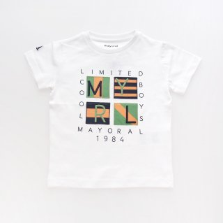 <img class='new_mark_img1' src='https://img.shop-pro.jp/img/new/icons14.gif' style='border:none;display:inline;margin:0px;padding:0px;width:auto;' />Mayoral - Patch T-shirt (White)