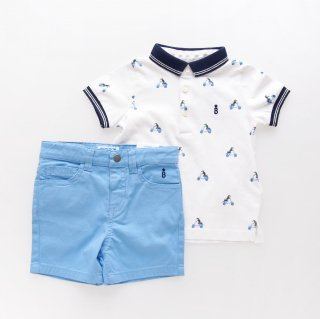 <img class='new_mark_img1' src='https://img.shop-pro.jp/img/new/icons14.gif' style='border:none;display:inline;margin:0px;padding:0px;width:auto;' />Mayoral - Beagle polo & shorts set