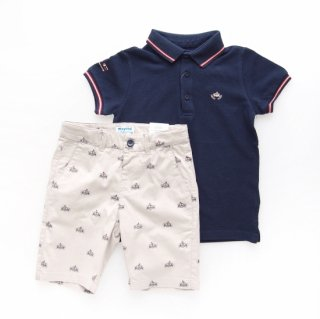 <img class='new_mark_img1' src='https://img.shop-pro.jp/img/new/icons14.gif' style='border:none;display:inline;margin:0px;padding:0px;width:auto;' />Mayoral - Monaco polo & shorts set
