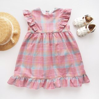 <img class='new_mark_img1' src='https://img.shop-pro.jp/img/new/icons14.gif' style='border:none;display:inline;margin:0px;padding:0px;width:auto;' />Amaia Kids - Biarrits dress (Red check)