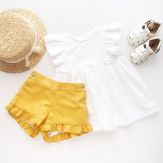 <img class='new_mark_img1' src='https://img.shop-pro.jp/img/new/icons14.gif' style='border:none;display:inline;margin:0px;padding:0px;width:auto;' />Laivicar / baby lai - Shoulder frill blouse & shorts set