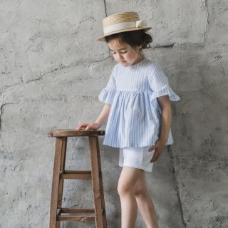 <img class='new_mark_img1' src='https://img.shop-pro.jp/img/new/icons14.gif' style='border:none;display:inline;margin:0px;padding:0px;width:auto;' />Laivicar / baby lai - Stripe blouse & pique shorts set