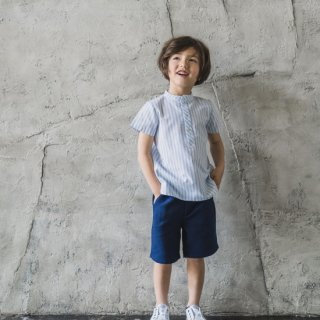 <img class='new_mark_img1' src='https://img.shop-pro.jp/img/new/icons14.gif' style='border:none;display:inline;margin:0px;padding:0px;width:auto;' />Laivicar / baby lai - Stripe shirt & pique shorts boy set