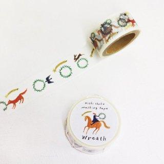 西淑 マスキングテープ(金箔入) Wreath
