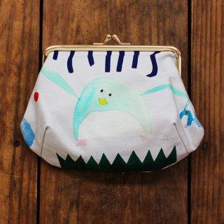 Subikiawa. 帆布がま口コスメポーチ ペンギン