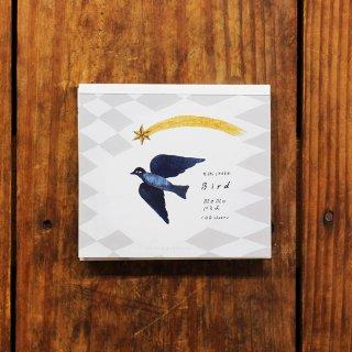 西淑 美濃透かし和紙入ブロックメモ Bird