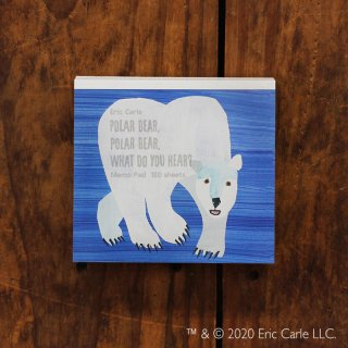 エリック・カール ブロックメモ POLAR BEAR,  POLAR BEAR,  WHAT DO YOU HEAR?