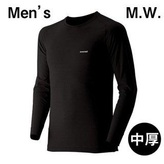【L】モンベル/ジオライン/M.W.ラウンドネックシャツ MEN'S