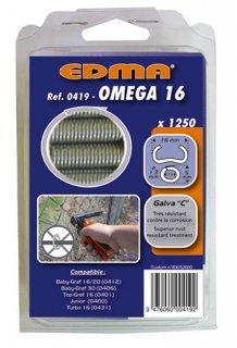 ※【Y】EDMA/エドマ/フェンス補強用替えリングセット/オメガ16(ガルバ鋼)