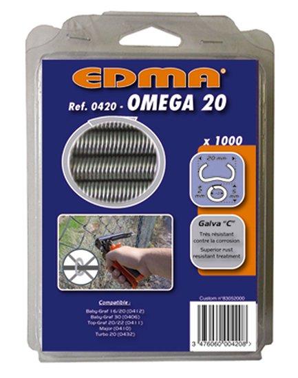 ※【Y】EDMA/エドマ/フェンス補強用替えリングセット/オメガ20(ガルバ鋼)