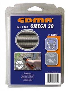 ※【Y】EDMA/エドマ/フェンス補強用替えリングセット/オメガ20(ステンレス)