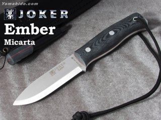 <img class='new_mark_img1' src='https://img.shop-pro.jp/img/new/icons41.gif' style='border:none;display:inline;margin:0px;padding:0px;width:auto;' />【AH】Joker EMBER SCANDI BUSHCRAFT KNIFE MICARTA HANDLE ジョーカー エンバー マイカルタ ファイヤースチール付き ブッシュクラフトナイフ