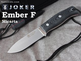 <img class='new_mark_img1' src='https://img.shop-pro.jp/img/new/icons41.gif' style='border:none;display:inline;margin:0px;padding:0px;width:auto;' />【AH】Joker EMBER FRAT BUSHCRAFT KNIFE MICARTA HANDLE ジョーカー エンバー F マイカルタ ファイヤースチール付き ブッシュクラフトナイフ