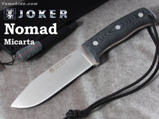 <img class='new_mark_img1' src='https://img.shop-pro.jp/img/new/icons41.gif' style='border:none;display:inline;margin:0px;padding:0px;width:auto;' />【AH】Joker NOMAD BUSHCRAFT KNIFE MICARTA HANDLE ジョーカー ノマド マイカルタ ファイヤースチール付き ブッシュクラフトナイフ