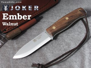 <img class='new_mark_img1' src='https://img.shop-pro.jp/img/new/icons41.gif' style='border:none;display:inline;margin:0px;padding:0px;width:auto;' />【AH】Joker EMBER SCANDI BUSHCRAFT KNIFE WALNUT HANDLE ジョーカー エンバー ウォールナット ファイヤースチール付き ブッシュクラフトナイフ