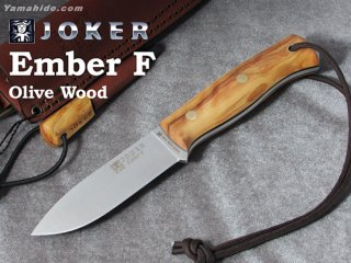 <img class='new_mark_img1' src='https://img.shop-pro.jp/img/new/icons41.gif' style='border:none;display:inline;margin:0px;padding:0px;width:auto;' />【AH】Joker EMBER FRAT BUSHCRAFT KNIFE OLIVE HANDLE ジョーカー エンバー F オリーブ ファイヤースチール付き ブッシュクラフトナイフ