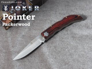 <img class='new_mark_img1' src='https://img.shop-pro.jp/img/new/icons41.gif' style='border:none;display:inline;margin:0px;padding:0px;width:auto;' />【AH】Joker POINTER Packer WOOD FOLDING POCKET KNIFE ジョーカー ポインター パッカーウッド フォールディング折り畳みナイフ