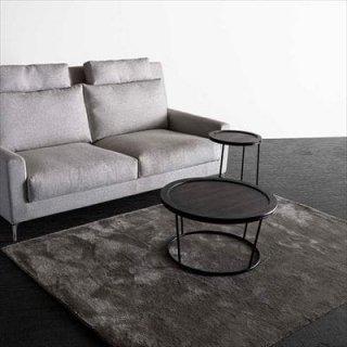 RIAN ソファテーブルD/焼き桐+スチール・ブラック