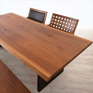匠工房 ダイニングテーブル/ウォールナット3枚剥ぎ+パネル脚