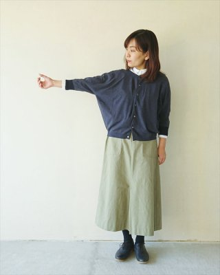 【nume】コットンホールガーメント ドルマン袖カーディガン