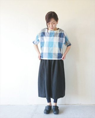 【ashuhari】ビッグチェック ドルマンシャツ