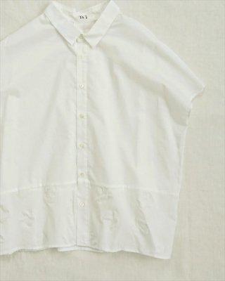 【nume】コットン すりガラスドット フレンチシャツ