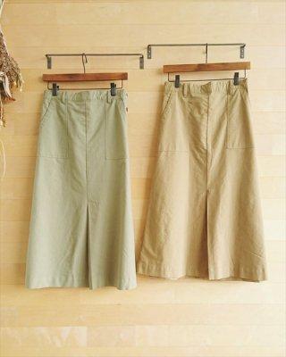 【blue willow】コーマコットン平織り Aラインスカート