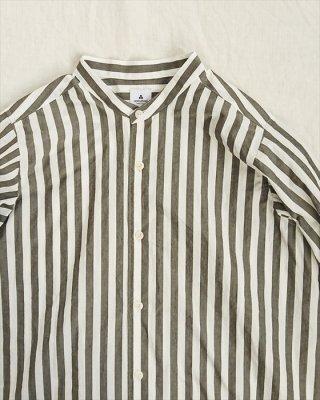【ashuhari】タイプライター ストライプAラインシャツ