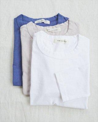【TINA and SUSIE】ラフィースラブ天竺 7分袖Tシャツ