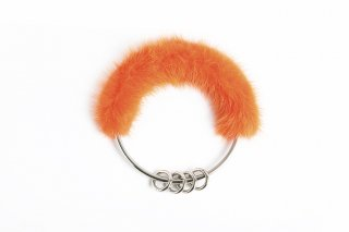 Mink Key-Ring<br>NEONORANGE x SILVER