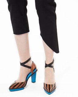 <b><font color='red'>NEW</font></b>STRIPED SANDAL<br>CAMEL