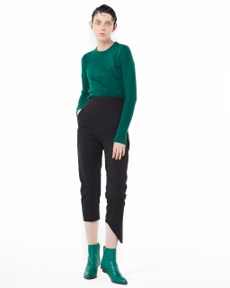 <b><font color='red'>NEW</font></b>ASIMETRIC HI-WAIST PANTS<br>BLACK