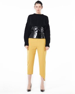 <b><font color='red'>NEW</font></b>ASIMETRIC HI-WAIST PANTS<br>YELLOW