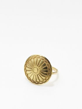 HELIOS / Gold concho ring