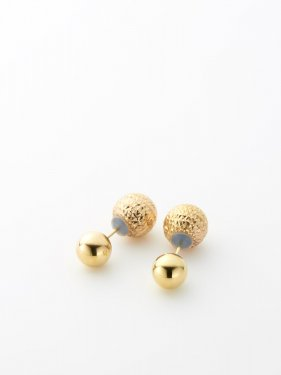SOPHISTICATED VINTAGE / Twin ball earrings