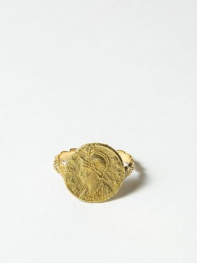 HELIOS / Roman coin ring / Romulus and Remus