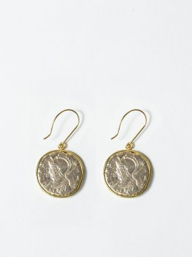 ARTEMIS / Roman coin necklace / Romulus and Remus