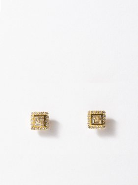 HISPANIA / Classic square diamond earrings